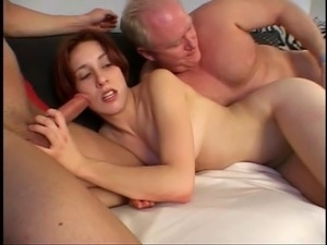Two guys ramming tight whore